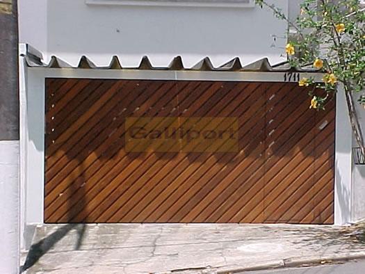 Portão Deck De Madeira Diagonal DMD-01
