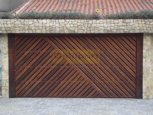 Portão Deck de Madeira Diagonal DMD-02