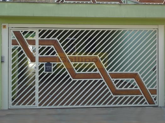 Portão Tubular Com Madeira ATM-02