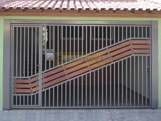 Portão Tubular Com Madeira ATM-04