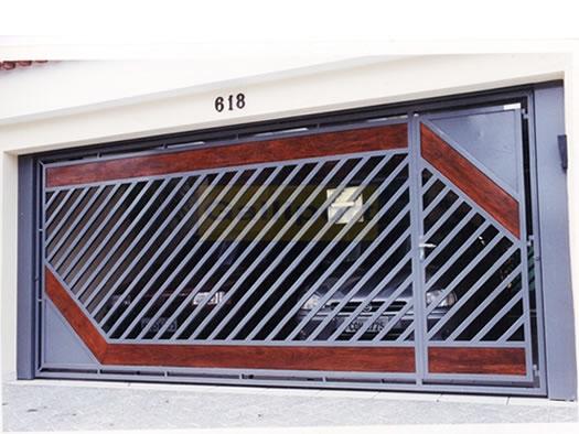 Portão Tubular Com Madeira ATM-06