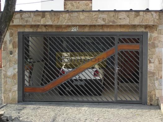 Portão Tubular Com Madeira ATM-07