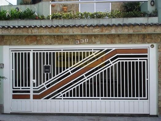 Portão Tubular Com Madeira ATM-08