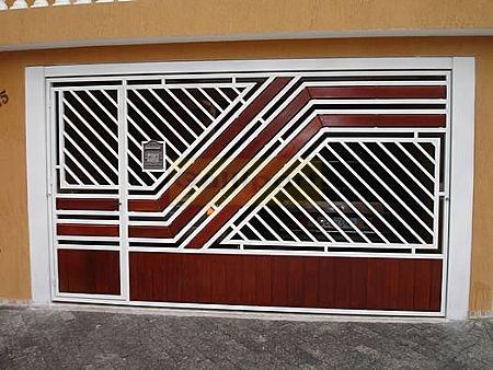 Portão Tubular Com Madeira ATM-10