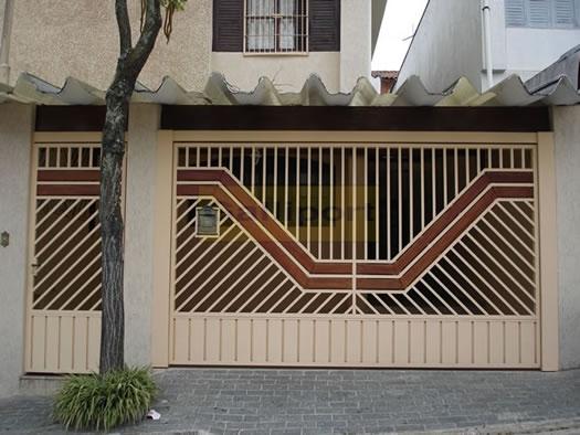 Portão Tubular Com Madeira ATM-11